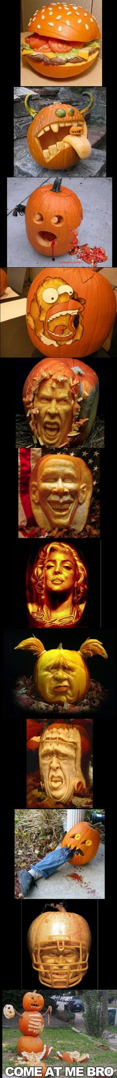 What does your pumpkin look like this year? Is it as cool as these?