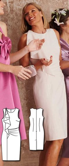 Sheath Dress Burda Mar 2016 #120B  Pattern $5.99: http://www.burdastyle.com/pattern_store/patterns/sheath-dress-032016