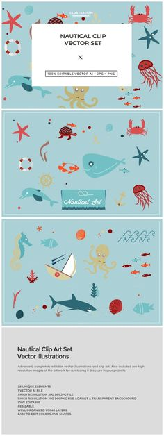 Nautical Clip Art Set  This clip art set has all you need for your nautical design projects.  The set is delivered in 100% editable vector .AI format along with a 300 DP... https://creativemarket.com/MeeraG/34981-Nautical-Clip-Art-Set?u=MeeraG&utm_source=Link&utm_medium=CM+Social+Share&utm_campaign=Product+Social+Share&utm_content=Nautical+Clip+Art+Set+~+Illustrations+on+Creative+Market