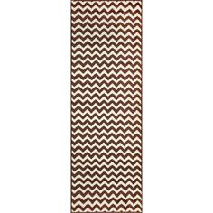 nuLOOM Allure Brown/Ivory Chevron Area Rug Rug Size: