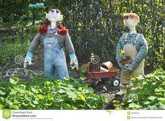 girl garden scarecrow | Scarecrows And Wagon Stock Images - Image: 26633204