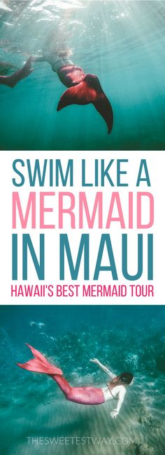 This was so incredible!! Swimming like mermaids in Maui with Hawaii Mermaid Adventures. A MUST DO!!!