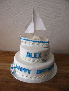 Zeilboot taart Sailboat Cake