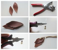 eat.sleep.MAKE.: CRAFT: Leather Leaves Necklace