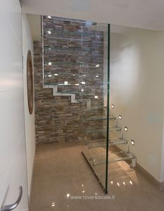 The glass staircase is very cool with proportions Interior Staircase, Staircase Railings, Stairs Architecture, Modern Staircase, Stairs Trim, Railing Design, Staircase Design, Home Interior Design, Exterior Design