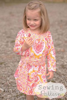 Allie Dress  (sizes 12/18 months to 7) PDF Sewing Pattern and Tutorial. $7.00, via Etsy.