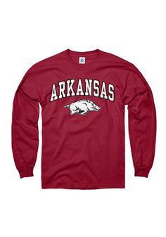 Arkansas Razorbacks T-Shirt - Cardinal Arkansas Arch Long Sleeve Tee