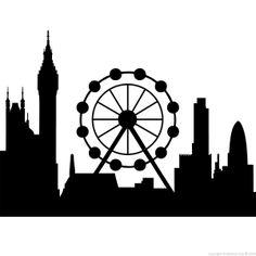 Stickers muraux Londres - Sticker London eye   Ambiance-live.com