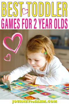 When my daughter turned 2, I was so excited we would finally be able to play some toddler games at home together. My husband and I love board game nights, so I was thrilled to get my daughter involved. Turns out most toddler games are geared for ages 3 and up. Not what I wanted to see. I was determined to find games she could play and not wait another whole year. | Journey to SAHM @journeytosahm #toddlerboardgames #toddlergames #toddlerlearning #gamesfortwoyearolds #toddlerfun #journeytosahm Educational Activities For Toddlers, Activities For 2 Year Olds, Rainy Day Activities, Games For Toddlers, Parenting Toddlers, Best Toddler Games, Toddler Board Games, Toddler Fun, Play Based Learning