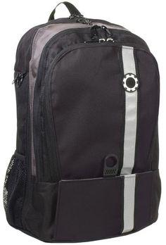 Dad Backpack Diaper Bag - Black Retro Stripe