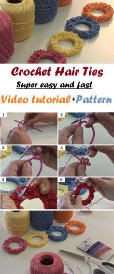 Crochet Hair Tie – Very Easy and Super Fast
