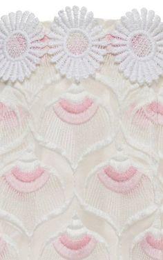 Embroidered Skirt with Daisy Belt by Giamba - Moda Operandi