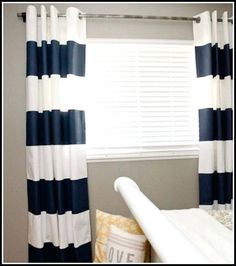 Target Curtains Blue Fabulous White And Navy Striped Curtains Decorating With Navy And White Striped Curtains