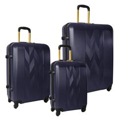 From the textured ABS to the four wheel spinner system, The Anne Klein Lafayette 3 Piece Hardside Spinner Luggage Set, was constructed to maintain maximum durab