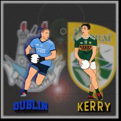 Can Kerry stop the drive for Football Final, Finals Week, Digital Illustration, Dublin, Irish, Baseball Cards, Boys, Sports, Fictional Characters