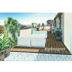 Preliminary render #terrace #architecture #designers #design #indoor #outdoors #home #fashion #Marbella #Málaga #gardendesigner #gardens #designwithpots #fountains #sketch #3d #render #autocad #archilovers #luxury #verticalgarden #fornituredesign
