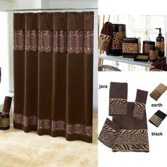 Cheshire Animal Print Shower Curtain And Bath Accessories By Avanti