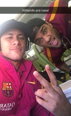 20.02.2016 Neymar & Dani Alves #repost #snapchat Neymarjr