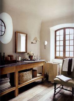 Gorgeous bathroom. Modern rustic