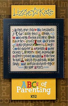 Lizzie Kate ABCs of Parenting K52 Counted Cross by DebiCreations