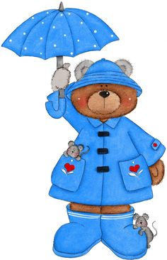 April Bear in Blue
