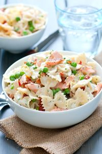 Creamy Dill Farfalle with Salmon #DeLallo2013