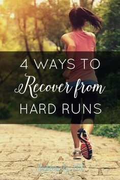 When you recover quickly from your runs, you'll improve more quickly, too! Here are 4 ways to recover from hard runs to help you become a better runner. Running tips. Running For Beginners, How To Start Running, How To Run Faster, Workout For Beginners, How To Run Longer, Running Race, Running Humor, Running Motivation, Running Training