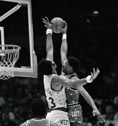 Dr. J over Artis Gilmore at the NBA All-Star game.