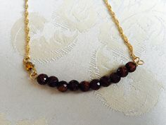 Minimalist jasper necklace by tchickie on Etsy