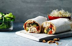 Vegetarisk burrito med getost & svarta bönor