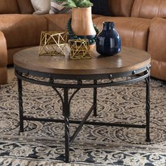 Shop for Baxton Studio Elektra Vintage Industrial Antique Bronze Tables. Get…