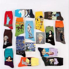Fashion Art  Cotton Crew Socks