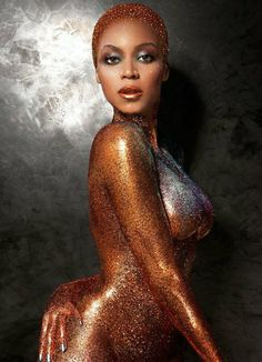 """Beyonce Covered Only In Glitters - Goes Nude In """"FLAUNT"""" Magazine Photoshoot! 