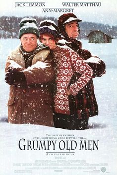 Grumpy old men.it's pretty funny when you see two senior citizens acting like children and fighting with each other constantly.and it's pretty funny to see jack lemmon and walter mathau together in any movie.