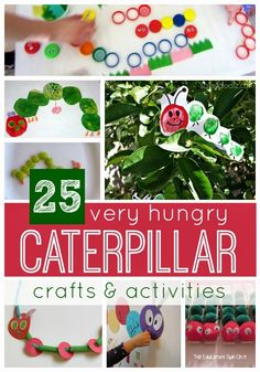 25 Very Hungry Caterpillar Crafts & Activities Kilmer Kilmer @ Toddler Approved Very Hungry Caterpillar Anniversary Giveaway} Toddler Fun, Toddler Preschool, Toddler Crafts, Toddler Activities, Crafts For Kids, Toddler Stuff, Spring Activities, Craft Activities, Preschool Crafts