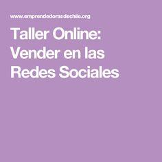 Taller Online: Vender en las Redes Sociales