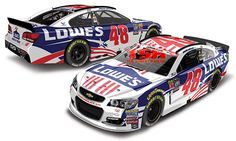 2016 JIMMIE JOHNSON #48 LOWES POWER OF PRIDE SALUTE SPECIAL PAINT SCHEME 1/24 & 1/64