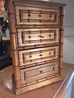 "Chest of drawers  Antique, French Toy 12.25"" tall"