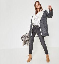 cd9f920888e57f Gilet oversize Femme gris - Promod   DRESSING   Pinterest   Gilet ...