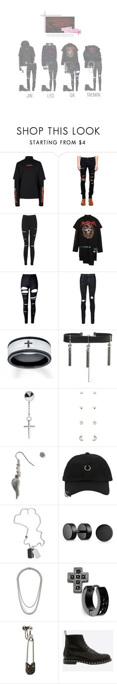 """Cherry Bomb - Intro + Fight! on Dream Concert"" by cherrybomb-official ❤ liked on Polyvore featuring Topman, AMIRI, Topshop, Vetements, WithChic, Sophie Buhai, Dsquared2, Forever 21, StyleNanda and Diesel"