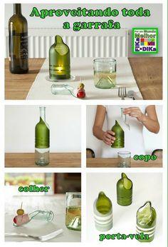 mit Weinflaschen basteln