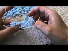 crochet lion's foot flower stitch - YouTube