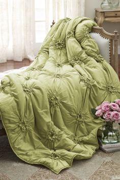 Bella Smocked Coverlet - Coverlets, Bedding, Home Decor | Soft Surroundings