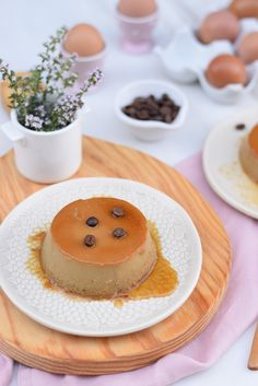 coffee flan Muffins, Flan, Panna Cotta, Coffee, Cake, Ethnic Recipes, Sweet, Sweet Recipes, Cooking