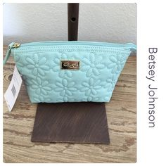 "Betsey Johnson Make-Up Bag Brand new with tags Color is a mint green Appox 9"" X 6"" X 4"" Betsey Johnson Bags Cosmetic Bags & Cases"