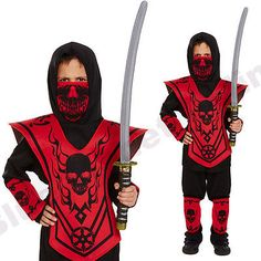 Childrens kids boys samurai ninja martial arts #halloween #fancy #dress costume,  View more on the LINK: 	http://www.zeppy.io/product/gb/2/141794115947/