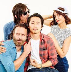 The Walking Dead: Norman Reedus, Andrew Lincoln, Steven Yeun and Lauren Cohan