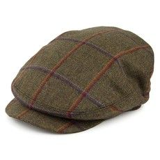 Olney Hats Bond Kirkton Tweed Flat Cap - Charcoal