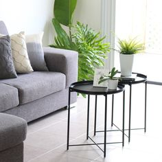 D•O•U•B•L•E  U•P  Using 2 tables can create interest, but is also practical, as they can be kept together or, depending on the occasion, easily moved as needed.⠀⠀⠀⠀⠀⠀⠀⠀⠀ ⠀⠀⠀⠀⠀⠀⠀⠀⠀ ⠀⠀⠀⠀⠀⠀⠀⠀⠀ ⠀⠀⠀⠀⠀⠀⠀⠀⠀ ⠀⠀⠀⠀⠀⠀⠀⠀⠀ Gladom coffee tables & faux fern @ikea_australia⠀⠀⠀⠀⠀⠀⠀⠀⠀ Grey cushions @tkmaxxau Grey Cushions, Modern Architecture, Luxury Homes, Ikea, Canning, Interior Design, Fern, Create, House Styles