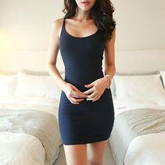 Sling Bottoming Vest Vestido das WeiMeiJia Mulheres – BRL R$ 18,92